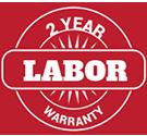 2 year labor warranty
